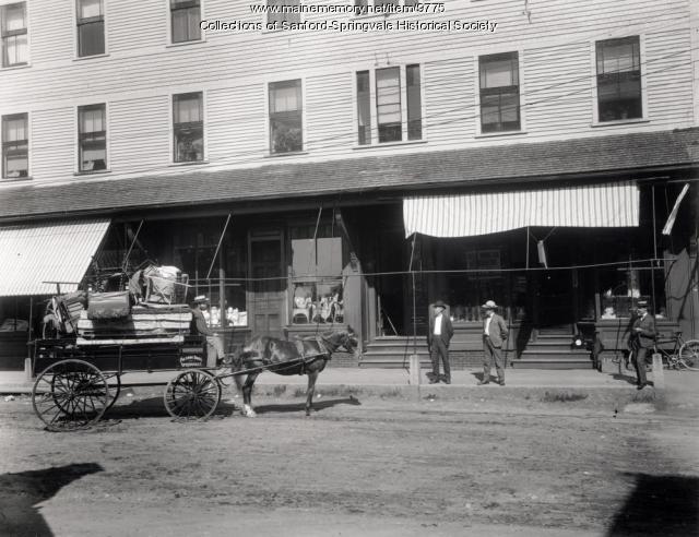 Fogg Block, Springvale, ca. 1891