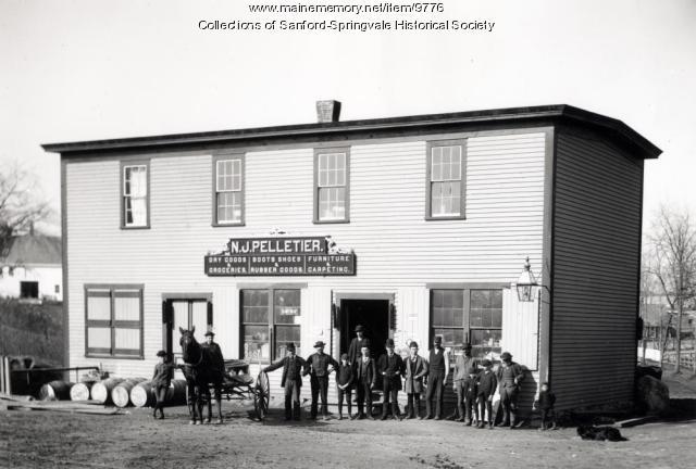 Pelletier's Store on Bridge Street, Springvale, 1890s