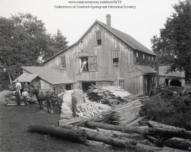 Smith's Planing and Shingle Mill, Springvale, ca. 1900