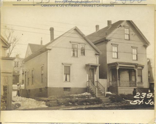 239 St. John Street, Portland, 1924