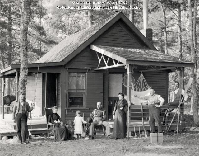 Camp by an unidentified lake, ca. 1900