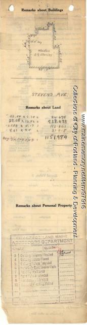 736-740 Stevens Avenue, Portland, 1924