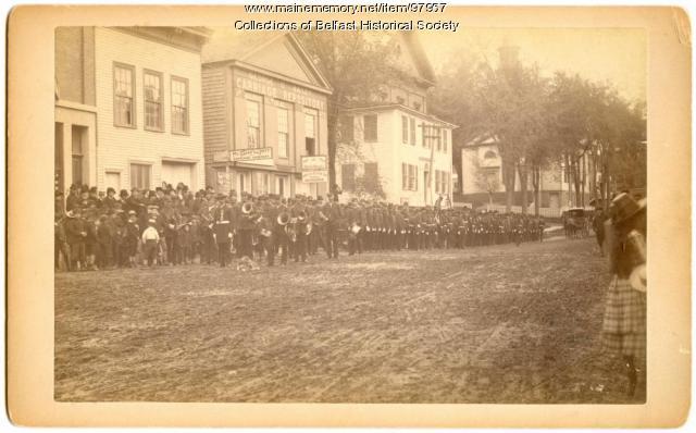 Thomas H. Marshall Post GAR parade, Belfast, ca. 1886
