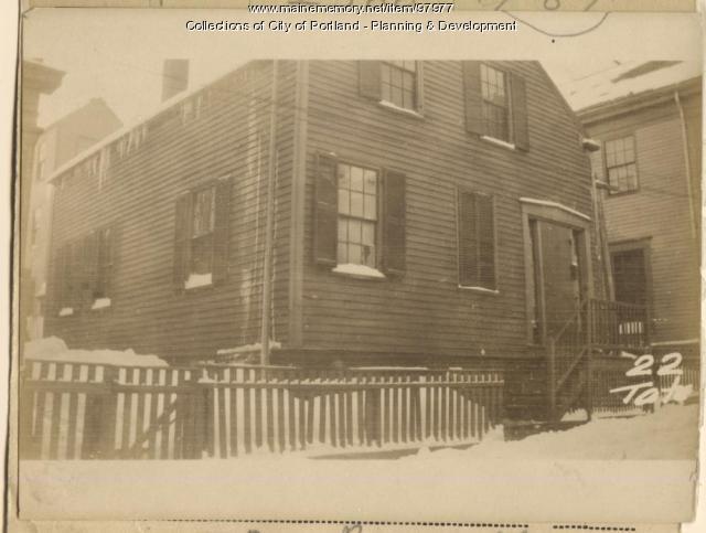 22 Tate Street, Portland, 1924