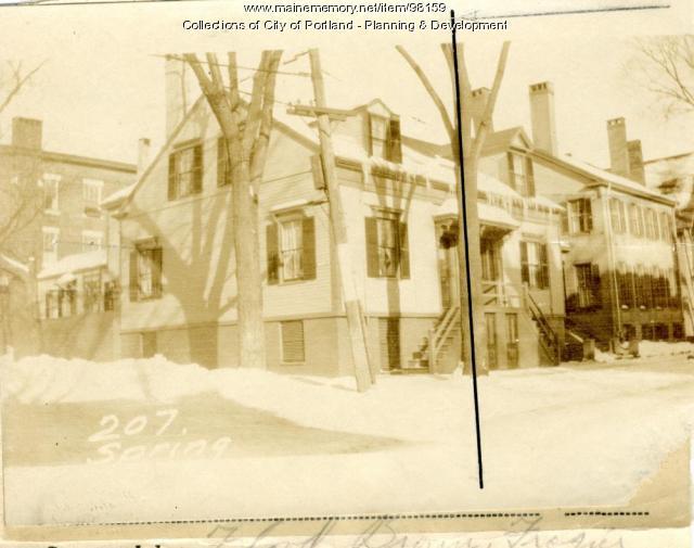 207 Spring Street, Portland, 1924