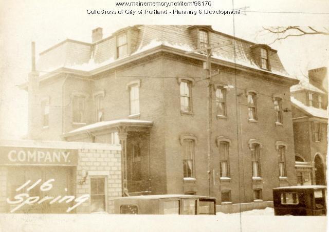 118 Spring Street, Portland, 1924