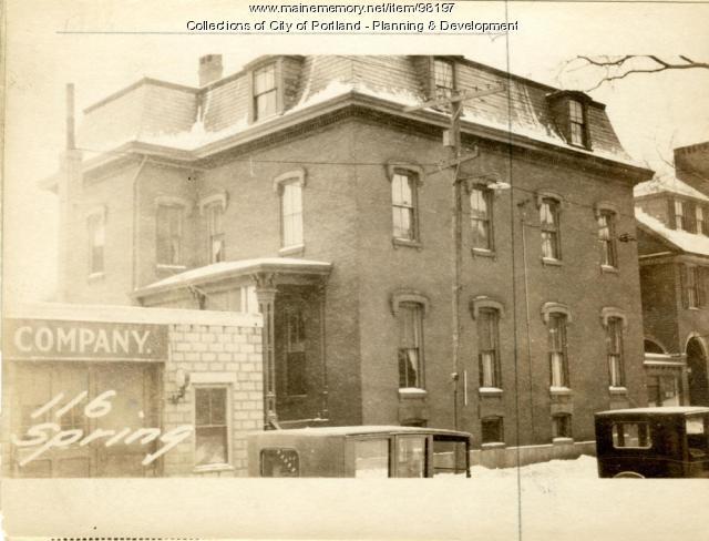 116 Spring Street, Portland, 1924