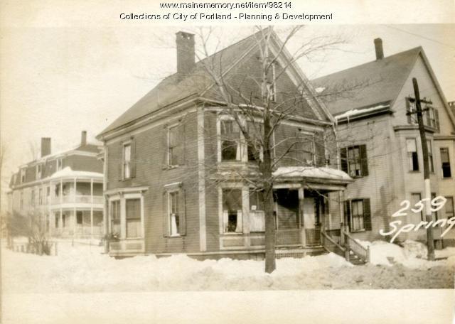 259 Spring Street, Portland, 1924