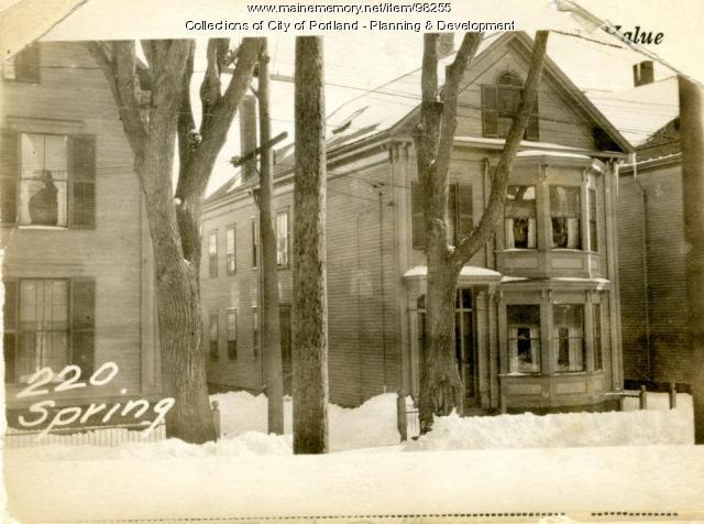 220 Spring Street, Portland, 1924