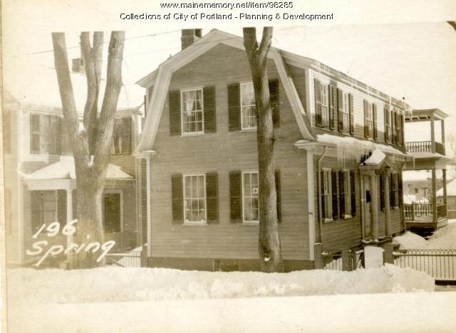 196 Spring Street, Portland, 1924