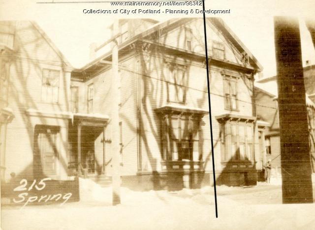 217 Spring Street, Portland, 1924