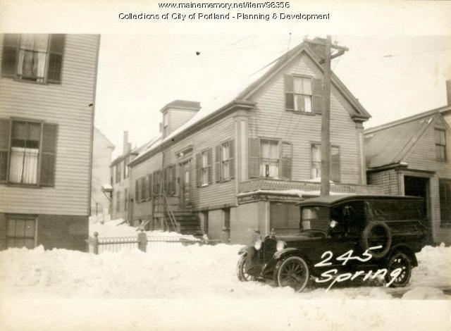245 Spring Street, Portland, 1924