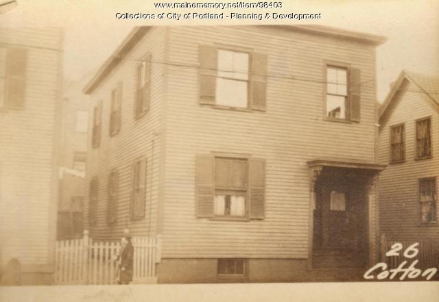 26 Cotton Street, Portland, 1924