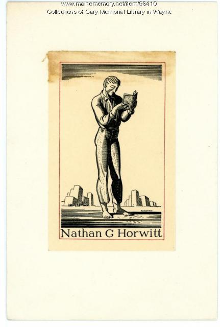 Nathan G. Horwitt bookplate, 1929