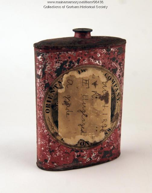 Gunpowder canister, Gorham and Windham, ca. 1890