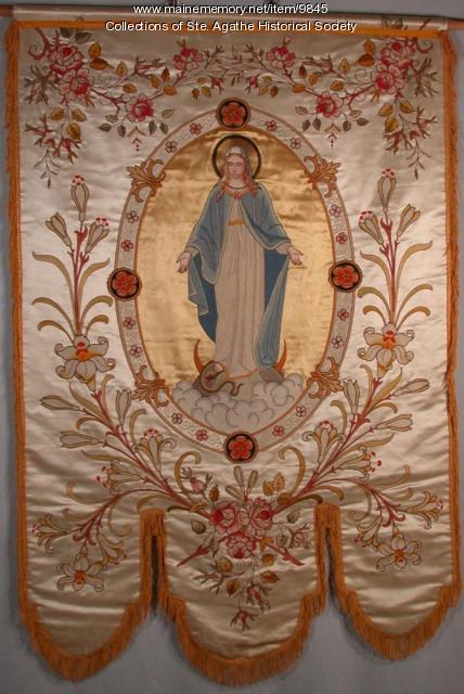 Dames de Ste. Anne Banner, St. Agatha, ca. 1920