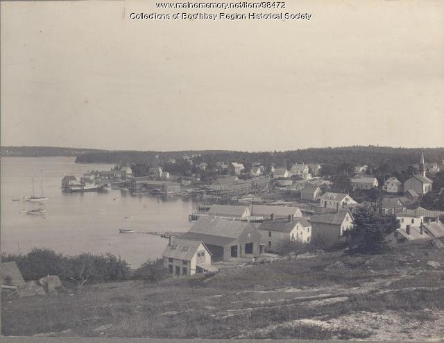 View of East Boothbay from Barlow's Hill, 1903