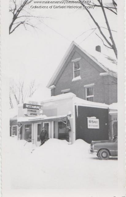 The Hi Spot Restaurant, Main Street, Dixfield, ca.1950