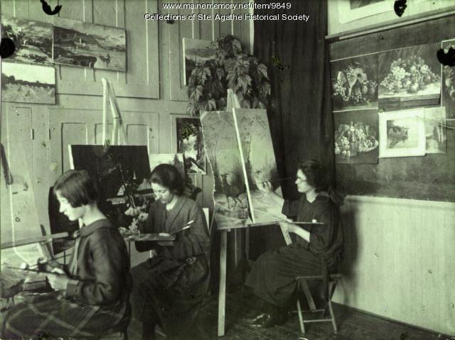 Art class, St. Agatha, 1924