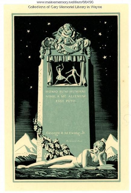 George R. M. Ewing Jr. bookplate, 1928