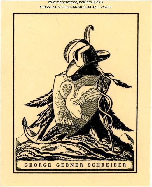 George Gebner Schreiber bookplate, 1928
