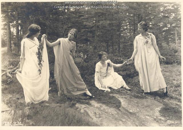 Commonwealth Art Colony students, Boothbay Harbor, August 5, 1915