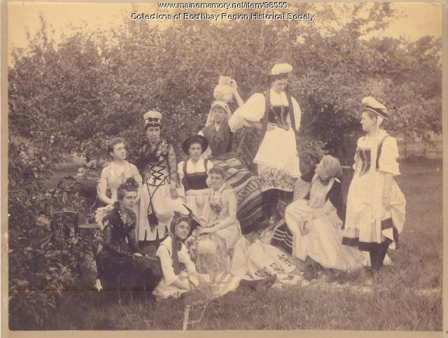 Garden party, East Boothbay, 1893