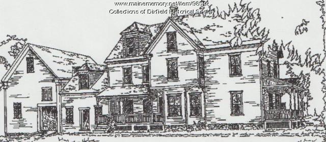 Dixfield Historical Society sketch, Dixfield, ca. 2003