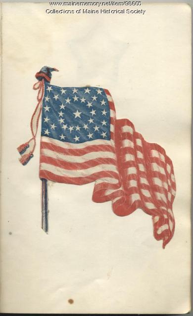 Julia Muzzy patriotic scrapbook, 1862
