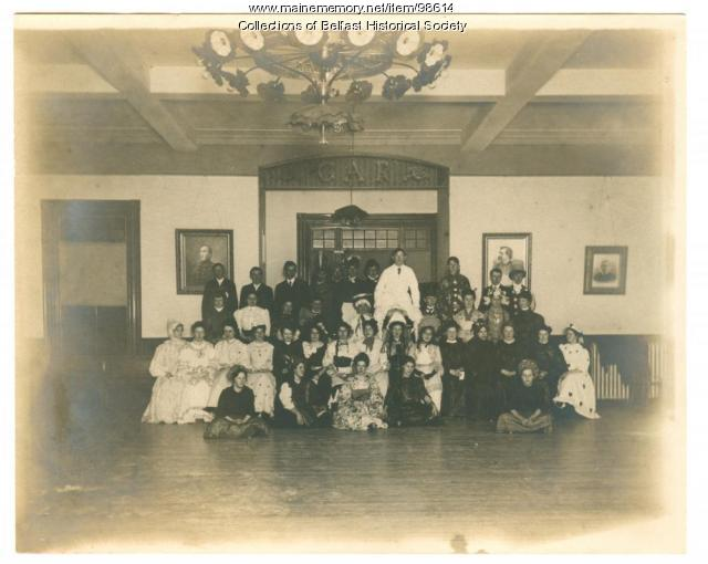 """Fantastics,"" Memorial Hall, Belfast, ca. 1900"