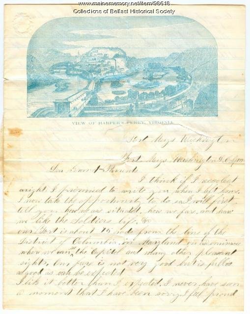 Andrew H. Nickerson letter, Swanville, 1862