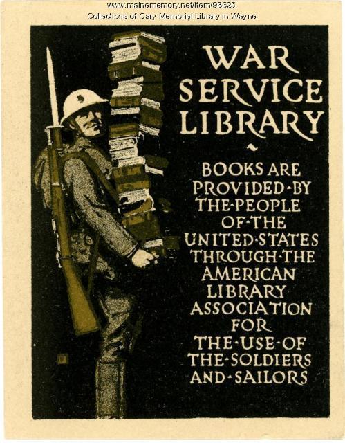 War Service Library bookplate, ca. 1917