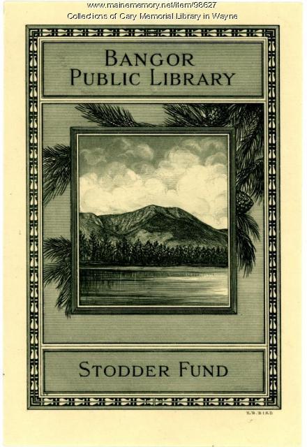 Bangor Public Library bookplate, 1929