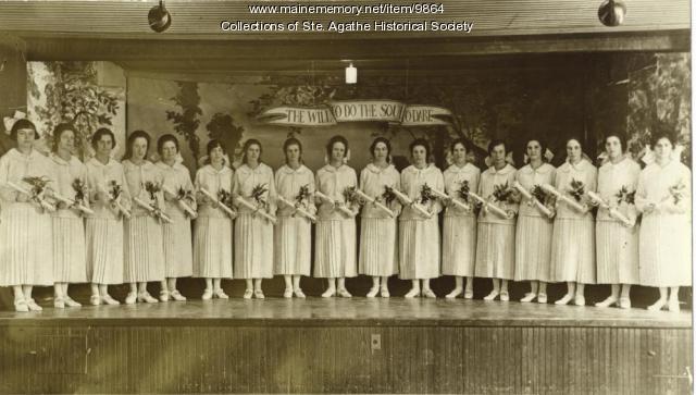 Graduates, St. Agathe, 1924
