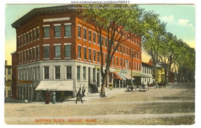Hayford Block, Belfast, ca. 1900