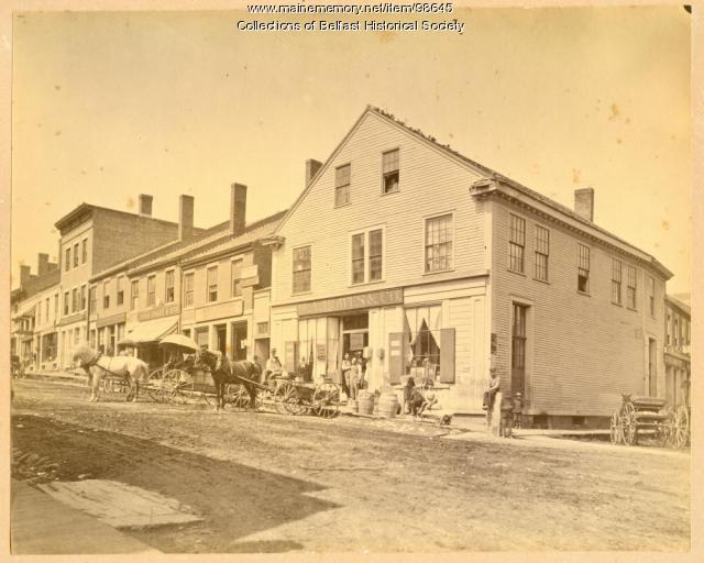 Upper Main Street, Belfast, ca. 1880