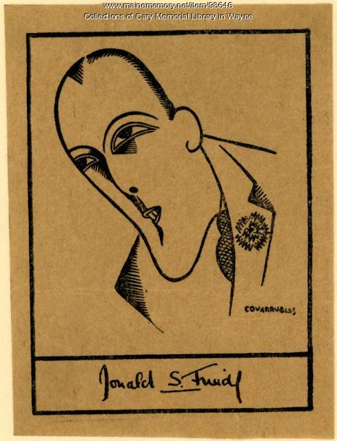 Donald S. Friede bookplate, ca. 1930