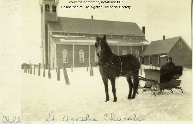 St. Agatha Catholic Church, St. Agatha, ca. 1905