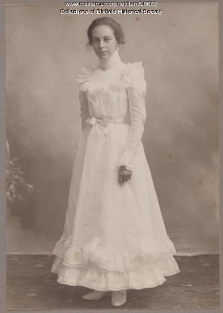Alice Lucas, High School Graduation, Canton, ca. 1900