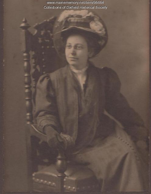 Alice Lucas Towle, Dixfield, ca.1920