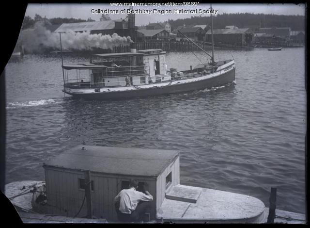 Ferry 'Governor Douglas,' Boothbay Harbor, ca. 1910
