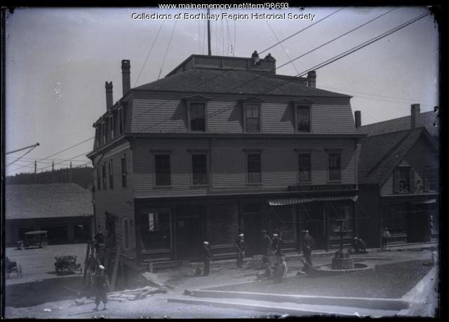 Pierce Furniture, Commercial Street, Boothbay Harbor, ca. 1917