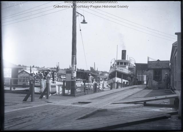 Steamship 'Virginia,' Boothbay Harbor, 1934
