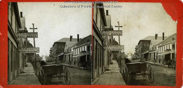 Main Street looking south, Rockland, ca. 1875