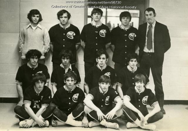 Wrestling team State Champions, Rumford High School, ca. 1973