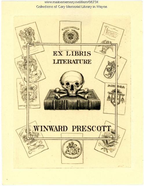 Winward Prescott bookplate, 1912