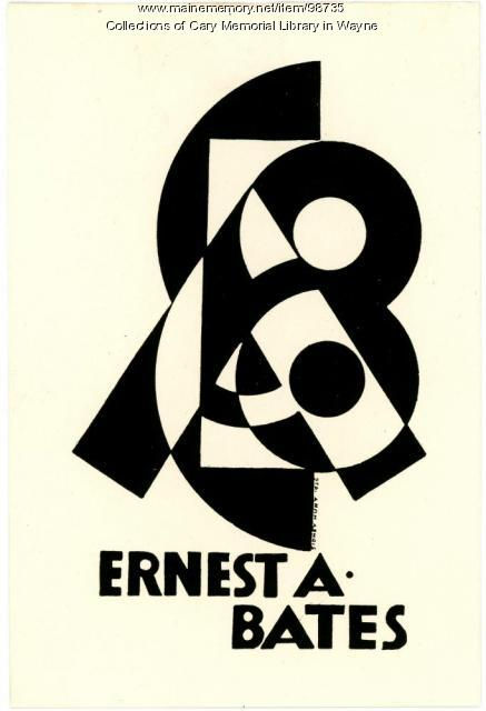 Ernest A. Bates bookplate, 1926