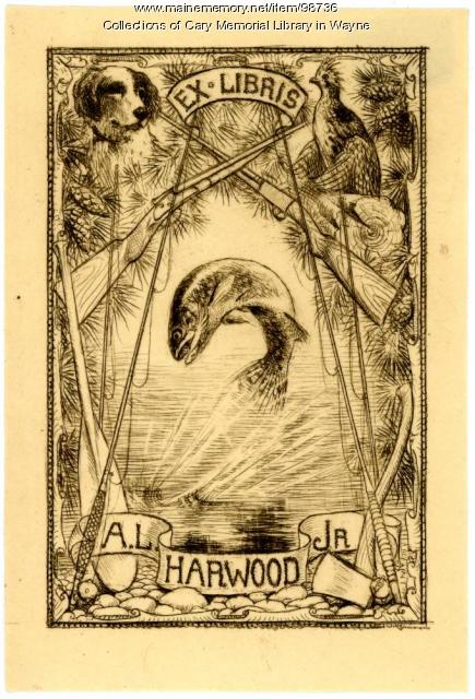 A. L. Harwood Jr. bookplate, ca. 1925