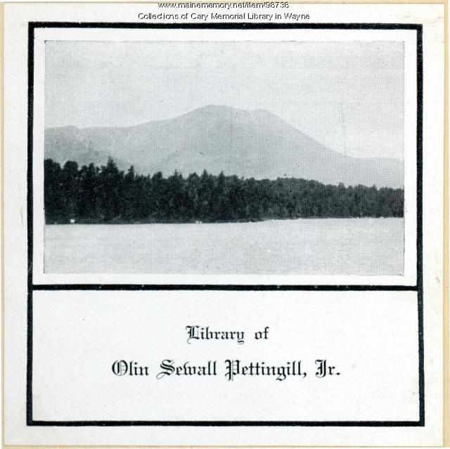 Olin Sewall Pettingill Jr. bookplate, ca. 1924