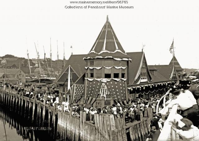 Christening day for steamship 'Belfast,' 1909